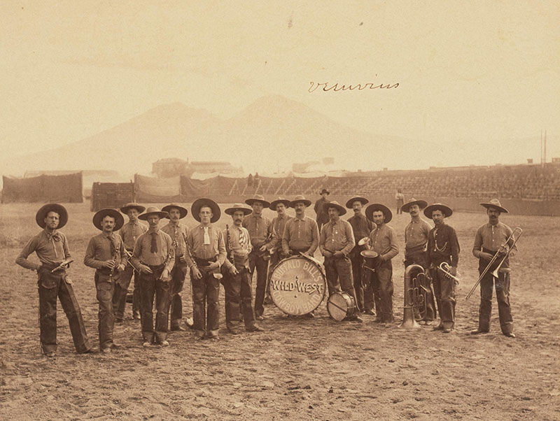 Wild West Cowboy Band, Italy, 1890